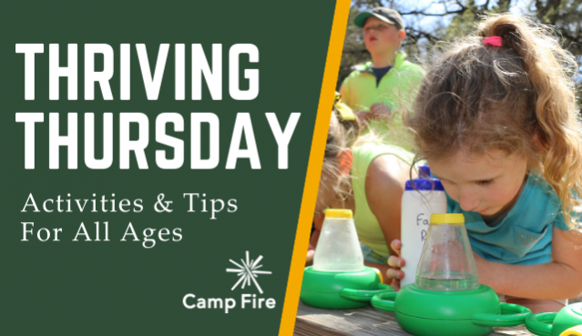 Thriving Thursday. Activities and tips for all ages.