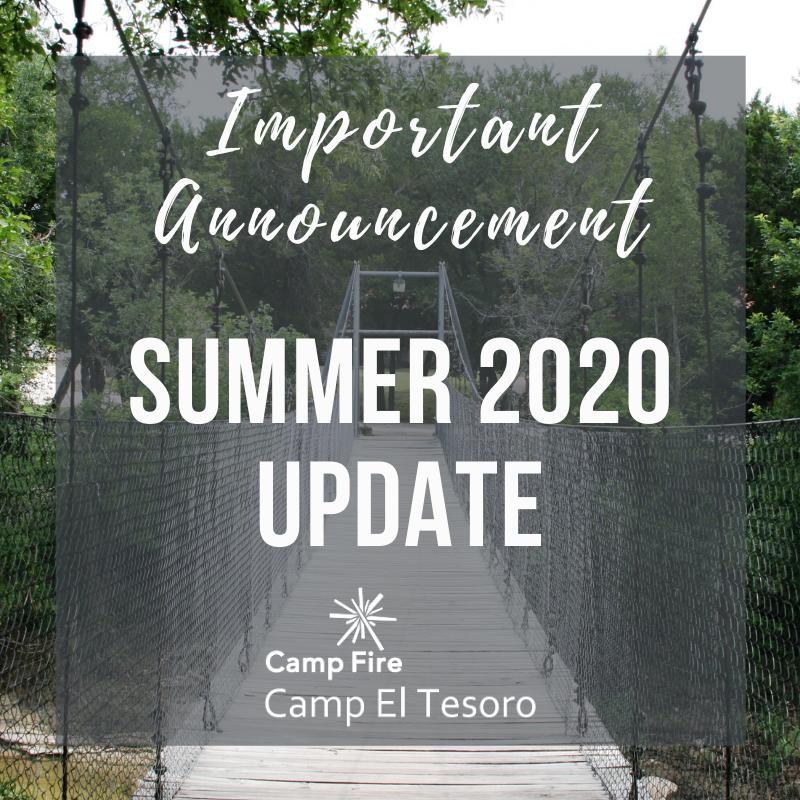 important announcement summer 2020