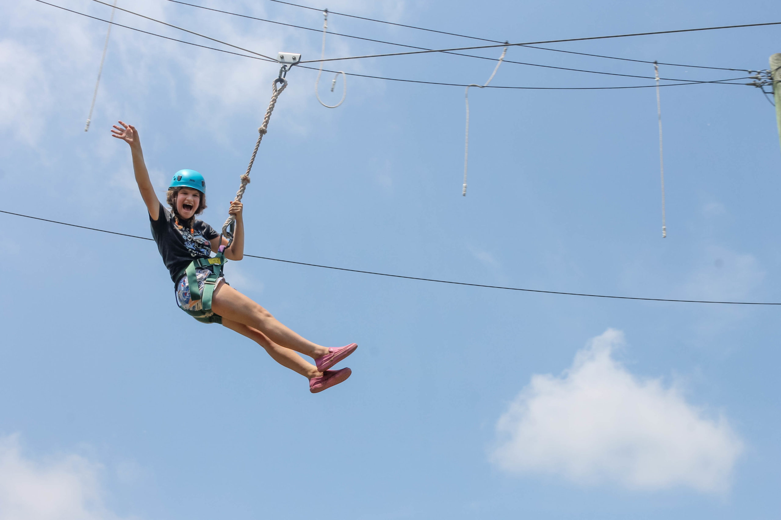 youth on the high ropes