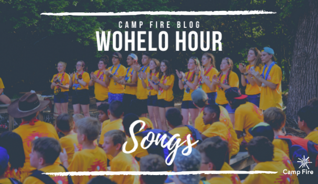 WoHeLo Hour Songs text, campers singing at closing camp ceremony