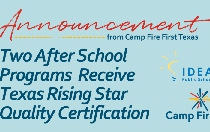 After School Programs Receive Texas Rising Star Quality Certification