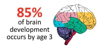 85% of brain development occurs by age 3