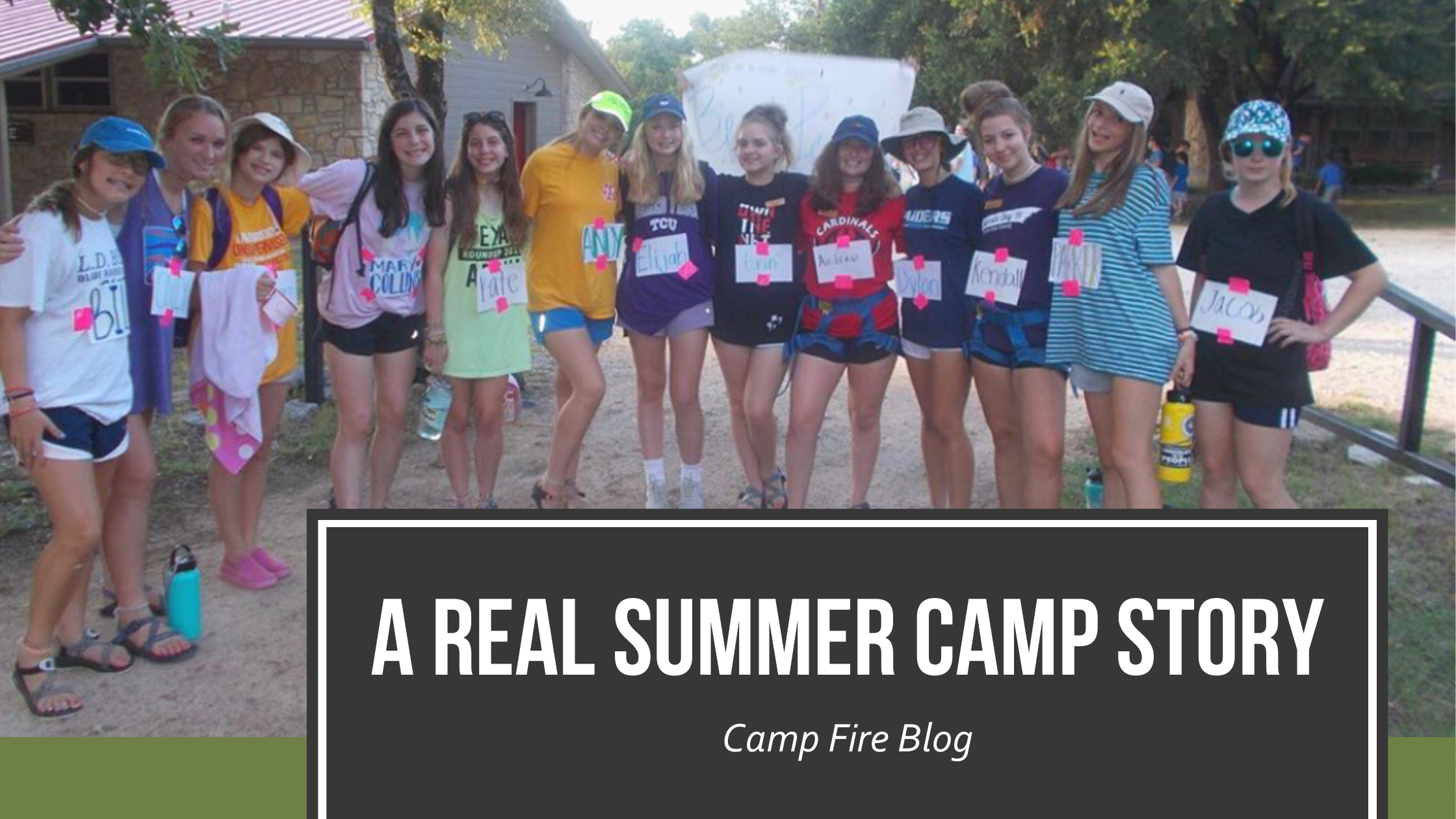 A REAL Summer Camp Story, image of campers with their arms around each other in a line